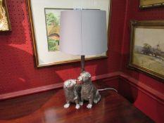 A modern otter lamp