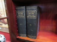 'The Shorter Oxford English Dictionary', 1933, 2 volumes, rebound half navy Morocco gilt,