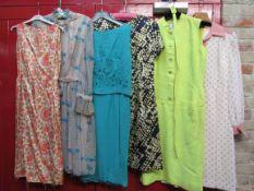 Six 1960's day dresses,