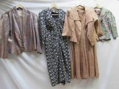 Two 1950's jackets, silk and lamé,