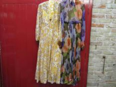 Two 1960's early 70's full length evening gowns,