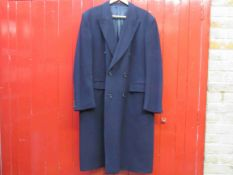 A Savoy Tailors Goild navy cashmere double breasted over coat