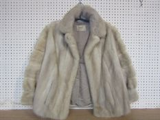 A mid 20th Century blond mink fur jacket made by Frederic furs