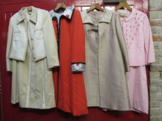 Four 1960's early 70's dress suit various designs,