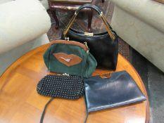 Four vintage evening handbags