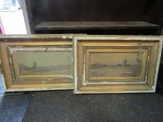 A.BENTLEY (XIX/XX) Two framed oils on canvas of windmill scenes. Both signed and dated 1909.