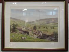 A signed country print after Melling, signed to margin, framed and glazed,
