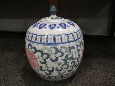 A modern Oriental lidded ginger jar,