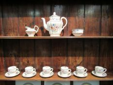 """A Copeland Spode """"Chinese Rose"""" coffee set"""