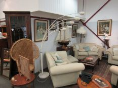 A 1960's/70's arched five branch standard lamp