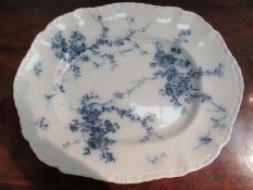 A Booths blue and white meat plate,