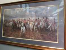 LADY BUTLER: Scotland Forever charge of the Scots Greys at Waterloo.