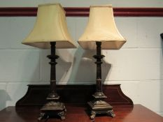 A pair of table lamps,