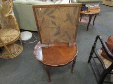 A wicker peacock chair,