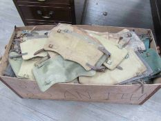 A box containing approximately 350 British 1937 pattern anklets