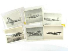 Six aviation photographs including AM marked and restricted, Mosquito,