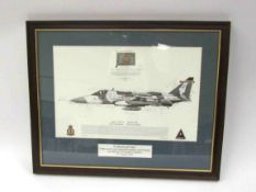 A limited edition print of a Jaguar GR3A aircraft, signed by multiple crew,