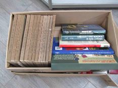 Two boxes of miscellaneous military related books including armour,