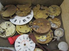 A box of complete and parts for wristwatches, complete examples including Waltham, Services,