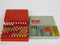 Two cased KIF and Incabloc balance shockproof jewel/spring sets and part sets,