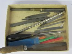 Assorted pivot files and burnishers including two double ended examples