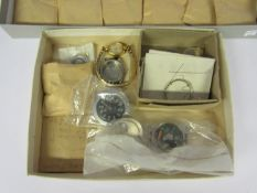 Assorted watch movements, some with cases and dials, various calibres including ETA, AS, FEF, Seiko,