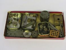 Assorted staking blocks and punches in steel and brass, some hand made,