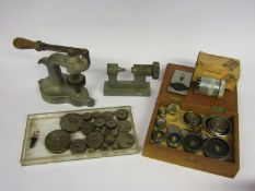 Assorted watch glass removing/inserting tools including OVA press and mixed dies, Bergeon-Vigor no.