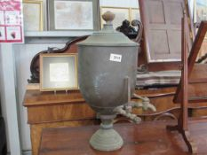 A Victorian copper tea urn