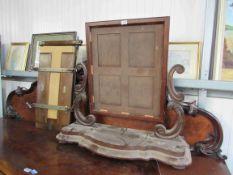 A large 19th Century mahogany mirror frame.
