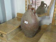 A 19th Century stoneware mead flagon