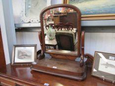 A Victorian mahogany toilet swing mirror