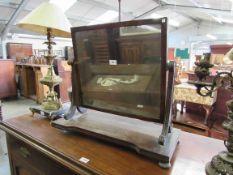 A Regency mahogany dressing table mirror for restoration,