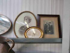 Three family portrait pictures