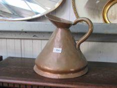 A Victorian copper beer jug