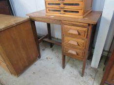 A 1930's oak ladies office desk
