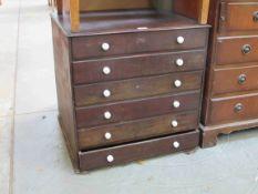 A George III mahogany six drawer specimen chestn