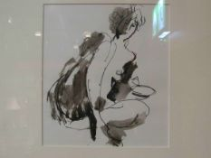 "Attributed to PETER COLLINS ARCA (1923-2001): ""Nude sketch"". India ink and wash."