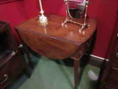 A 19th Century mahogany Pembroke table with single frieze drawer,