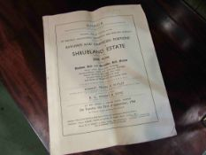Sale catalogue for Shrubland Estate (Baylham and Darmsden portions) 1941.