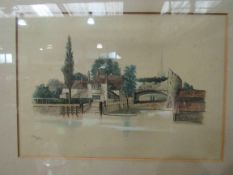 E POCOCKE (1843-1901): A series of 19th Century watercolours heightened with white depicting