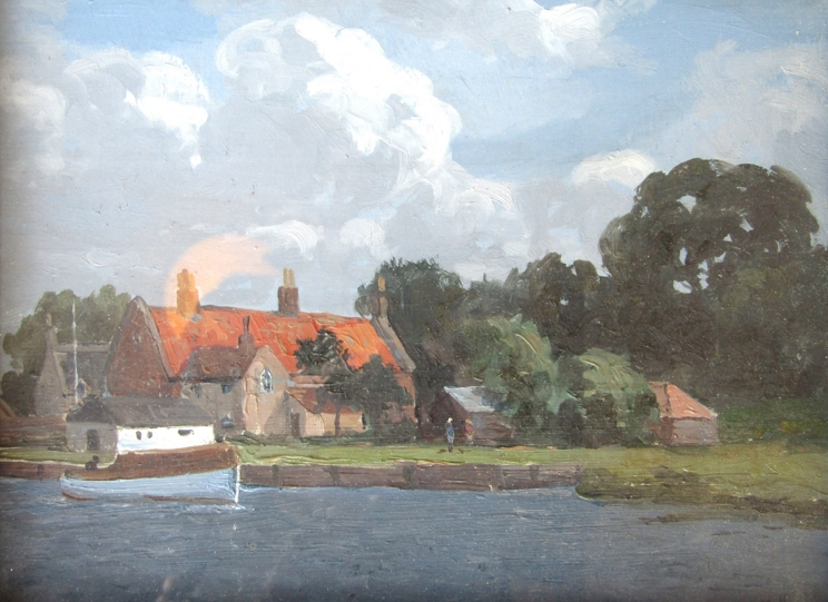 """CAMPBELL ARCHIBALD MELLON (1878-1955) (ARR): """"The Yachting Station, St Olaves""""."""