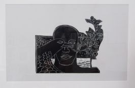 "MAZ JACKSON (XX/XXI) A framed and glazed limited edition print titled ""They Who Bring Peace""."