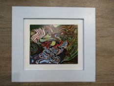 "SPATE HUNTERMANN (ROBERT HUNT 1934-2014): A framed mixed media on board titled ""Dodo""."