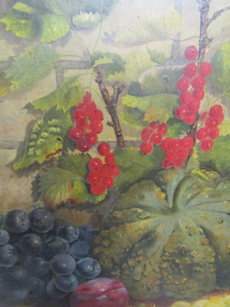 ELOISE HARRIET STANNARD (1829-1915): An oil on canvas of still life fruit, - Image 3 of 9