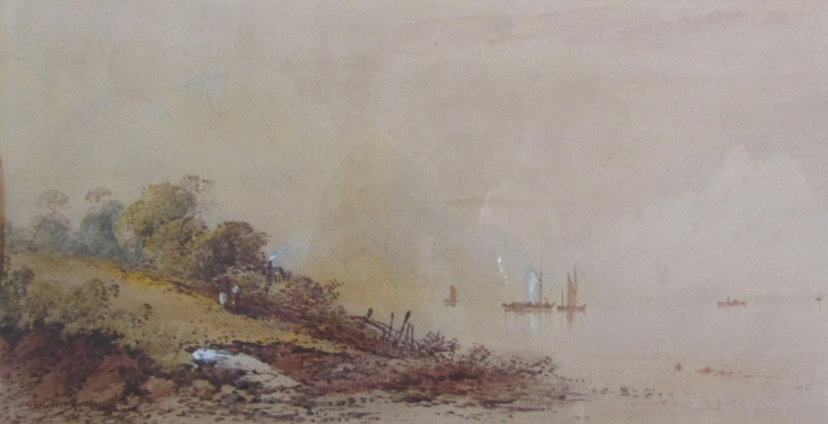 GEORGE EDWARDS HERING (1805-1879): A framed and glazed watercolour,