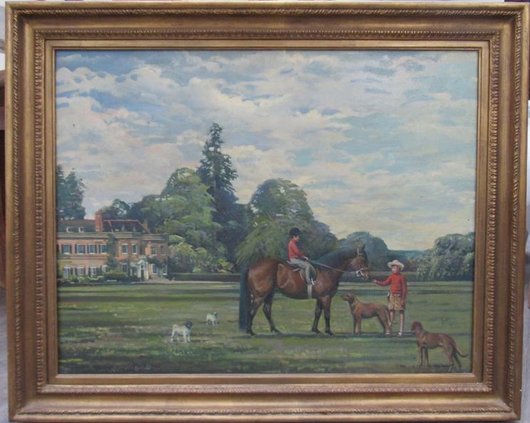 RICHARD JOHN MUNRO DUPONT (1920 - 1977) (ARR) A large gilt framed oil on canvas depicting Charlie - Image 3 of 6