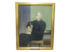 FREDERICK G. ELLEMENT: A framed oil on board, portrait of Sir Charles Vernon Boys F.R.S.
