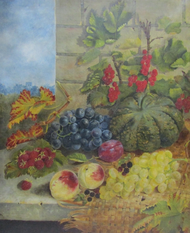 ELOISE HARRIET STANNARD (1829-1915): An oil on canvas of still life fruit, - Image 2 of 9