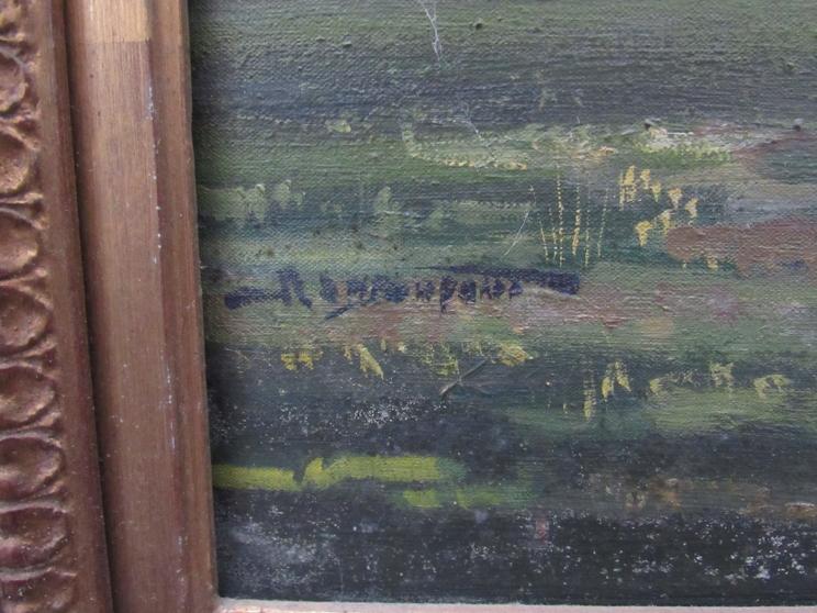 RICHARD JOHN MUNRO DUPONT (1920 - 1977) (ARR) A large gilt framed oil on canvas depicting Charlie - Image 2 of 6